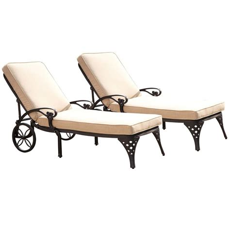 lawn chaise home styles biscayne black patio chaise lounge with taupe