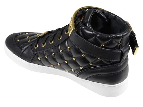 black michael kors sneakers michael kors sneaker alta essex nera donna in black lyst