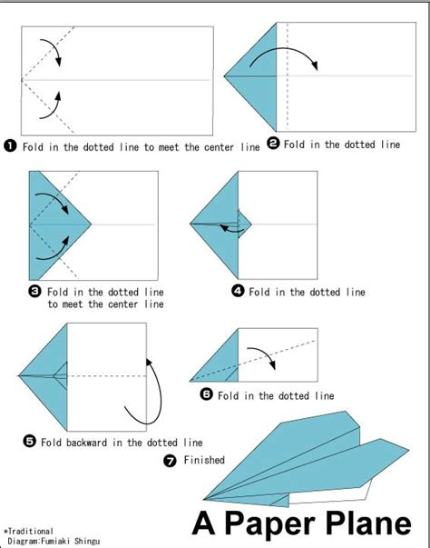 Fold Paper Airplane - special interest area a variety of simple origami paper
