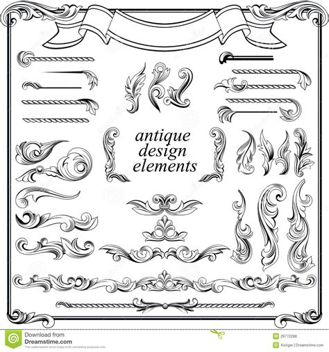 page design elements vector calligraphic design elements page decoration stock vector