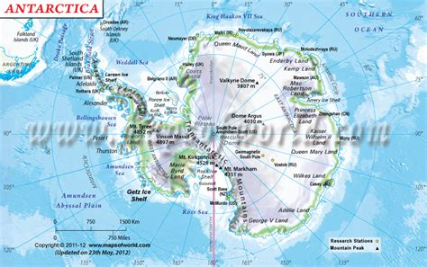 map of antarctica physical map world atlas 5th period ferguson