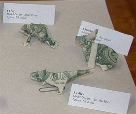 Dollar Bill Origami Frog - origami from dollar bills