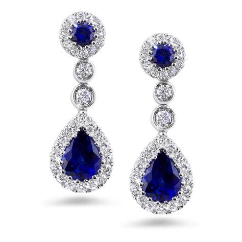 Ohrringe Diamant by 18k Wg Sapphire 1 66 Carat Drop Earrings
