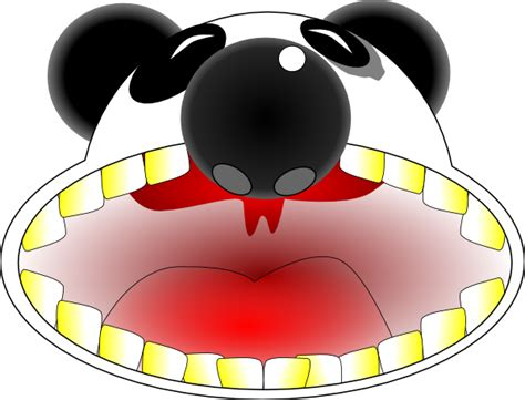 wide open panda mouth clip art  clkercom vector clip