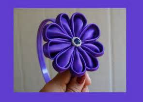 how to make fabric flower for headbands youtube