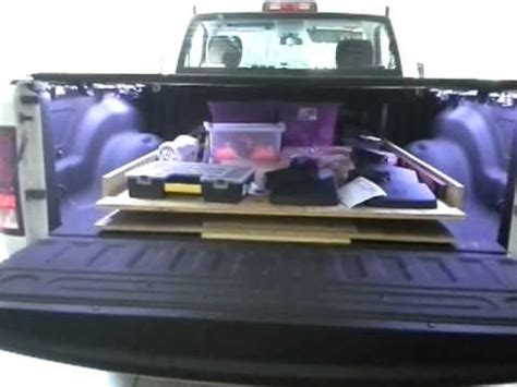 build your own truck bed slide out truck bed slide youtube