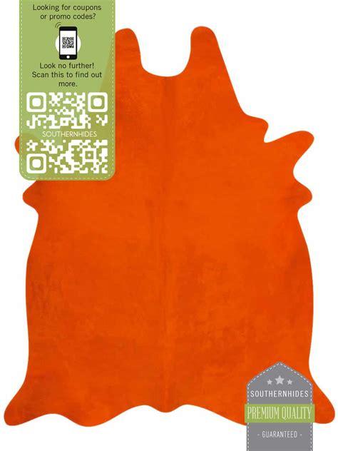 orange cowhide rug orange cowhide rug a burst of positive energy