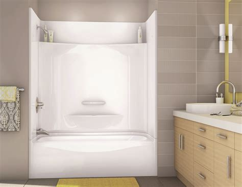 bathtub in shower kdts 3060 alcove or tub showers bathtub maax