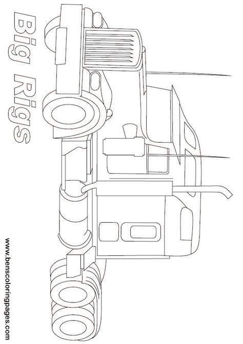 pin printable big rigs truck coloring page on pinterest