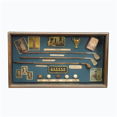 antique reproductions 12 in golf club shadow box 36328