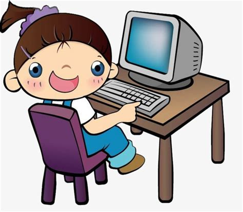 Children play computer games, Play Computer Desk, The