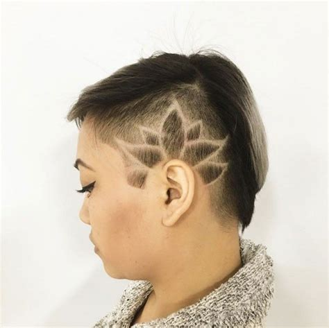 womens hair shaved just above ears 25 best ideas about side shave design on pinterest