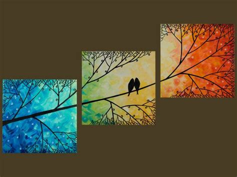 25 best ideas about canvas paintings on canvas three canvas