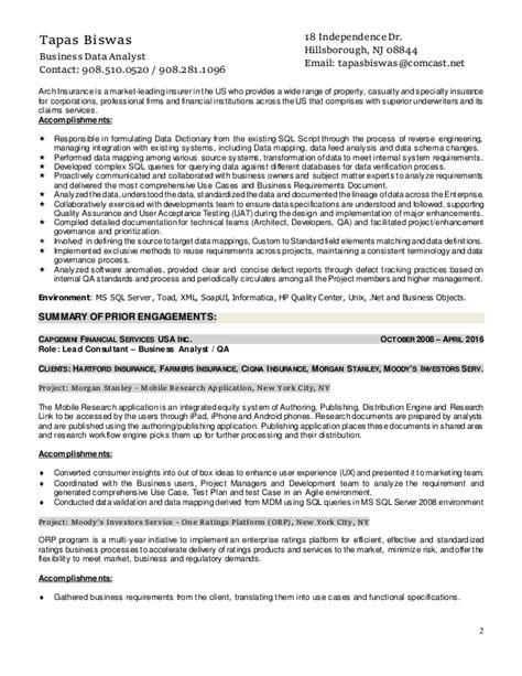 Datastage Developer Resume Exle by Resume Of Tapas Biswas