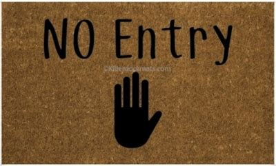no entry custom doormat by killer doormats