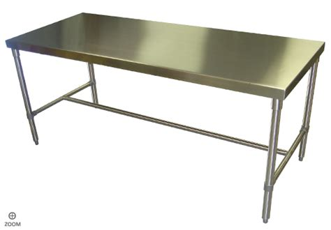 Industrial Kitchen Table Stainless Steel Kitchen Table Economical Stainless Steel Industrial Kitchen Table With Tubing Assembled