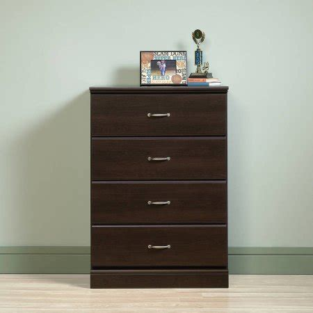 sauder chest of drawers walmart sauder parklane 4 drawer chest multiple finishes