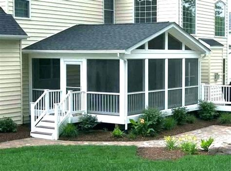 Adding Screened Porch To House - adding back porch to house ranch house front porch ideas