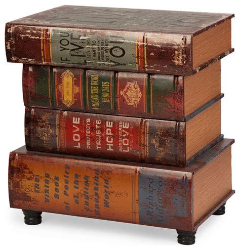 stacked books table l brownlow stacked book table traditional books by