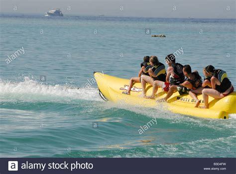 banana boat egypt a banana boat ride in the red sea hurghada egypt stock