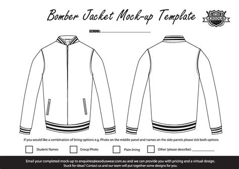 design jacket online free ex bomber exodus custom made bomber jacket design template