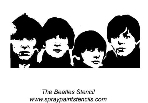Kaos The Beatles Logo Stencil the beatles stencil beatles