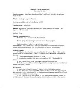 board meeting report template school meeting minutes templates 13 free sle