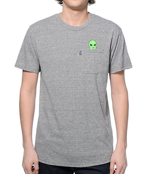 Tshirt Ripndip ripndip lord pocket grey t shirt