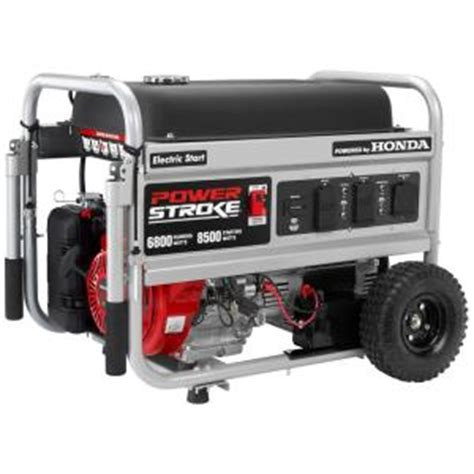 powerstroke 6 800 watt gasoline powered electric start