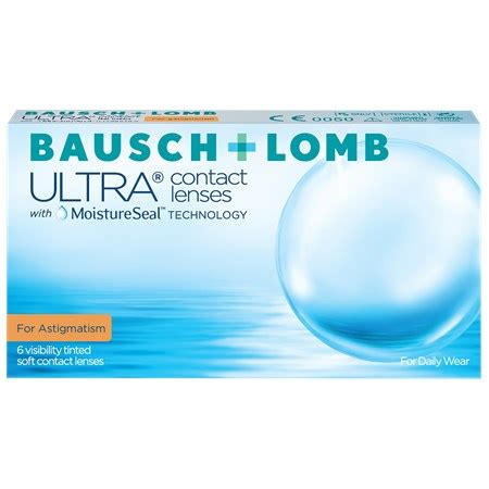 bausch + lomb ultra for astigmatism   toric contact lenses