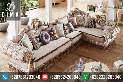 Kursi Tamu Letter L set kursi sofa tamu sudut l mewah klasik duco terbaru