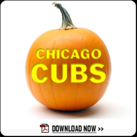 cubs pumpkin carving templates | chicago cubs