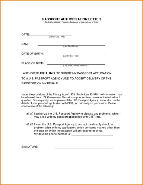 authorization letter to collect passport us visa authorization letter to up passport authorization