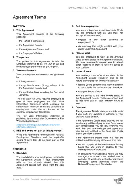 time employment contract template part time employment agreement template sle
