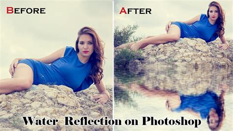 tutorial photoshop reflection effect water reflection effect in photoshop cc tutorials youtube