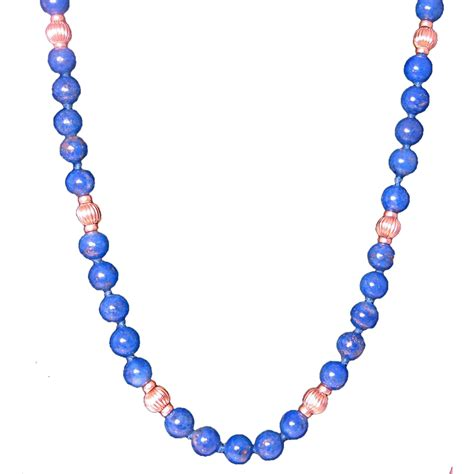 blue lapis bead necklace blue lapis lazuli beaded necklace with 14k yellow gold