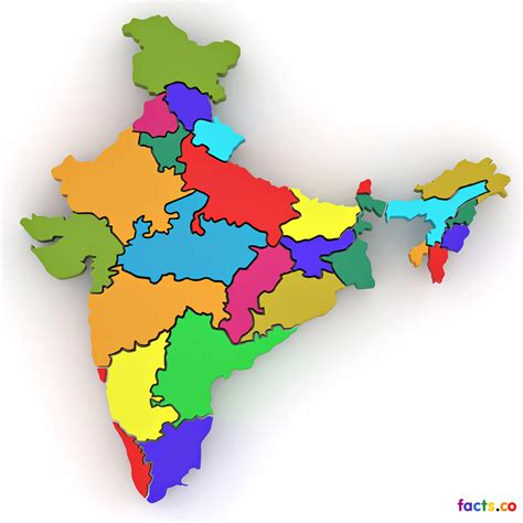 India Outline Map Coloured by Government Blocks 32 Websites In India Cinevedika