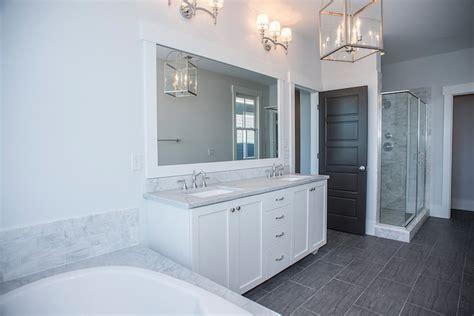 Wood Like Tile   Transitional   bathroom   Modern Organic