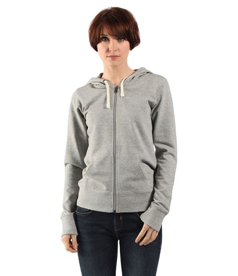 bench hoodie womens bench womens the hoodie sweat jacket in gray for men lyst