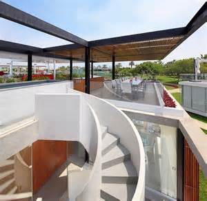 roof top deck extraordinary spiral staircase winds up to a killer
