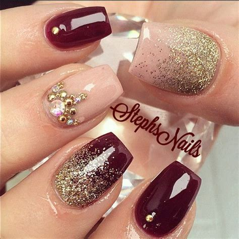 beautiful glitter nail art design for elegant nail 70 stunning glitter nail designs 2017
