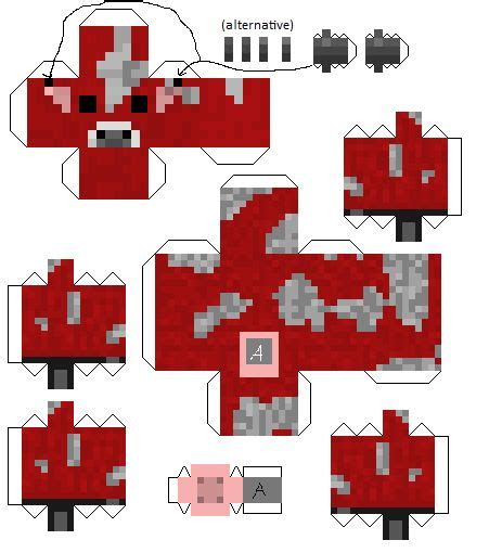 Minecraft Papercraft Iballisticsquid - papercraft minecraft baby mooshroom minecraft