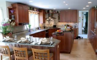 Kitchen With Island And Peninsula by Transitional Kosher Kitchen With Island And Peninsula