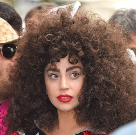 lady afro hair styles lady gaga s wild curly hair gets another outing in public