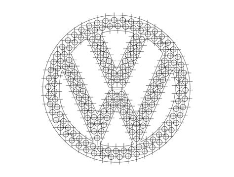 vw logo dxf file   axisco