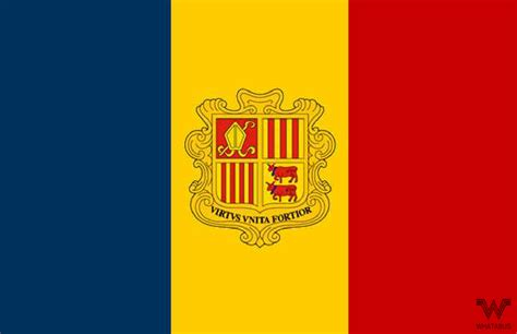 Aufkleber Länderflaggen by Flagge Andorra Aufkleber 8 5 X 5 5 Cm Whatabus Shop