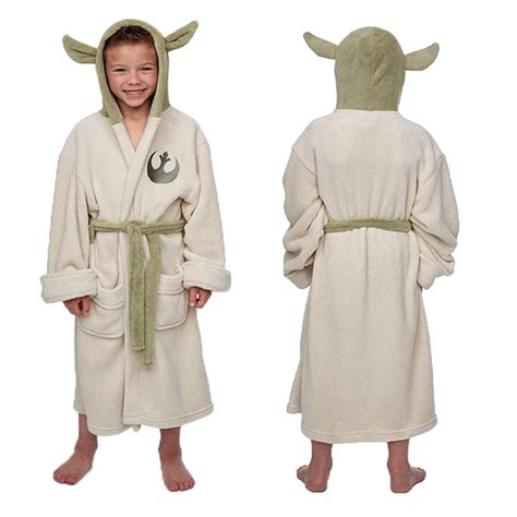 jedi fleece robe wars jedi master yoda fleece hooded bath robe