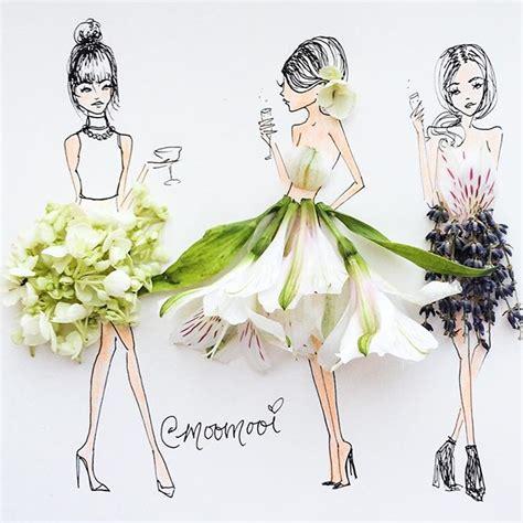 fashion illustration nature floral fashion illustration fashion meets nature