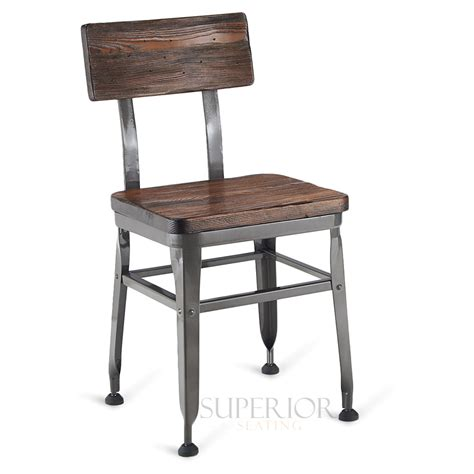 steel dining chairs india industrial wood back steel restaurant chair with solid ash