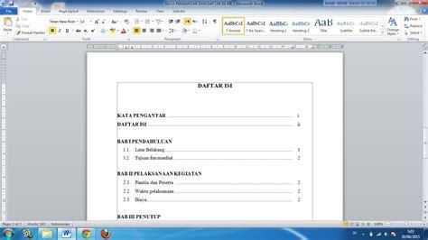 cara membuat nomor halaman karya tulis cara membuat titik titik daftar isi makalah dan karya